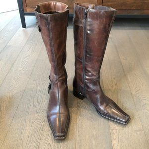 Arnold Churgin distressed Leather Boots Brown 39